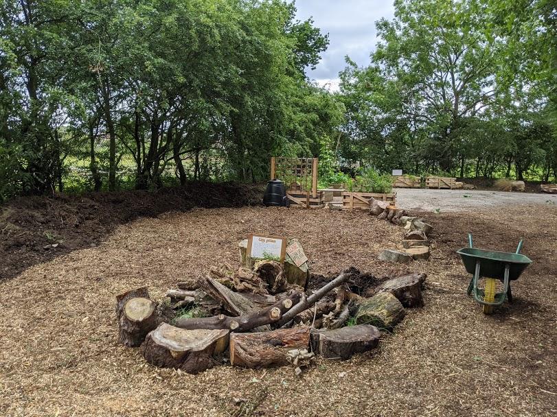 Woodchip path